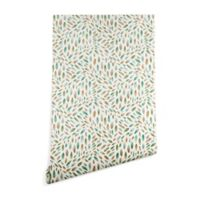 Deny Designs Pimlada Phuapradit Mini Leaves 2 2-Foot x 8-Foot Peel and Stick Wallpaper