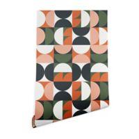 Deny Designs Old Art Studio Mid-Century Geometric 2-Foot x 8-Foot Peel and Stick Wallpaper