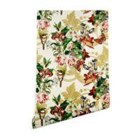 Deny Designs Marta Barragan Camarasa Baroque Bouquet 2-Foot x 8-Foot Peel and Stick Wallpaper