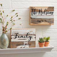 This Is Us 6-Inch x 8-Inch Reclaimed Wood Wall Sign
