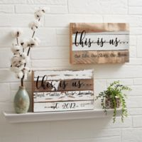 This Is Us 8-Inch x 12-Inch Reclaimed Wood Wall Sign