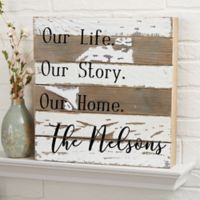 This Is Us 12-Inch x 12-Inch Reclaimed Wood Wall Sign