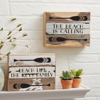 Coastal Life 6-Inch x 8-Inch Reclaimed Wood Wall Sign