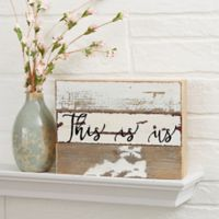 Expressions 6-Inch x 8-Inch Reclaimed Wood Wall Sign