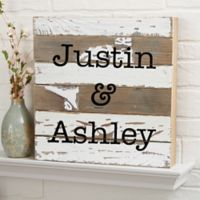 Expressions 12-Inch x 12-Inch Reclaimed Wood Wall Sign