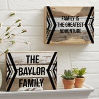 Adventure Awaits 8-Inch x 6-Inch Reclaimed Wood Wall Sign