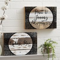 Adventure Awaits 8-Inch x 12-Inch Reclaimed Wood Wall Sign