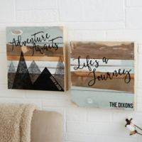 Adventure Awaits 12-Inch x 12-Inch Reclaimed Wood Wall Sign