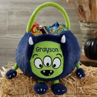 Monster Embroidered Plush Treat Bag
