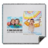 Two Photo Collage for Him Woven Throw Blanket