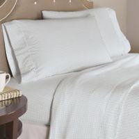 Pointehaven Checkerboard 200-Thread-Count Cotton Twin XL Sheet Set