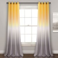 Lush Decor Ombre Fiesta 84-Inch Room Darkening Window Curtain Panels in Yellow