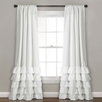 Lush Decor Allison 84-Inch Rod Pocket Window Curtain Panel Pair in White