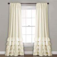 Lush Decor Allison 84-Inch Rod Pocket Window Curtain Panel Pair in Ivy