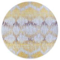 Couristan® Xanadu Durango 7'2 round Accent Rug in Yellow