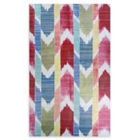 Couristan® Xanadu Coyoacan 3'11 x 5'3 Accent Rug in Red/Blue