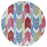 Couristan® Xanadu Coyoacan 7'2 round Accent Rug in Red/Blue