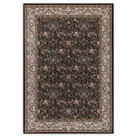 Dynamic Rugs Persia Damask 7'10 x 10'10 Area Rug in Black