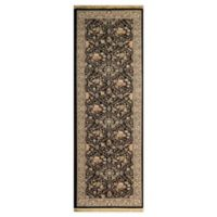 Dynamic Rugs Persia Damask 2'9 x 8'2 Runner in Black