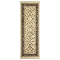 Dynamic Rugs Tehran Traditional 2'9 x 8'2 Runner in Ivory