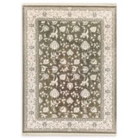 Dynamic Rugs Kashan Floral 7'10 x 10'10 Area Rug in Light Brown