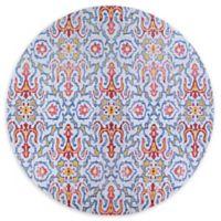 Couristan® Xanadu Puebla 7'2 round Accent Rug in Light Blue