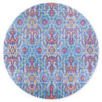 Couristan® Xanadu Puebla 7'2 round Accent Rug in Red/Blue
