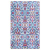 Couristan® Xanadu Puebla 7'6 x 10'9 Accent Rug in Red/Blue