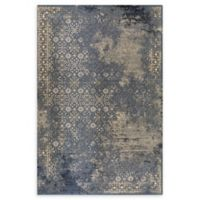 """Dynamic Rugs® Abstract 2'2"""" X 4'3"""" Powerloomed Area Rug in Blue"""