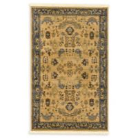 Unique Loom Bluebell Heritage 3'3 x 5'3 Area Rug in Tan