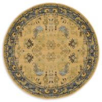 Unique Loom Bluebell Heritage 6' Round Area Rug in Tan