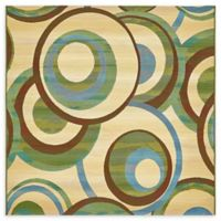 Eden 6' x 6' Indoor/Outdoor Area Rug in Beige