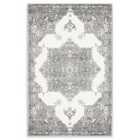 Venice Canal 4' x 6' Area Rug in Grey