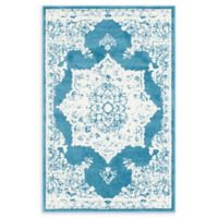 Venice Canal 4' x 6' Area Rug in Blue