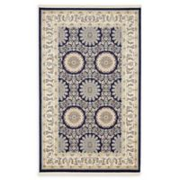 Unique Loom Brighton Nain Design 5' X 8' Powerloomed Area Rug in Navy