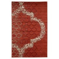 Unique Loom Baltimore Trellis 5' X 8' Powerloomed Area Rug in Terracotta