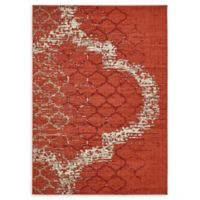Unique Loom Baltimore Trellis 7' X 10' Powerloomed Area Rug in Terracotta