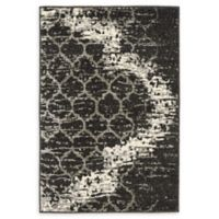 "Unique Loom Baltimore Trellis 2'2"" x 3' Accent Rug in Charcoal Grey"