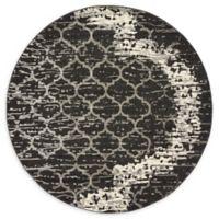 Unique Loom Baltimore Trellis 6' Round Rug in Charcoal Grey