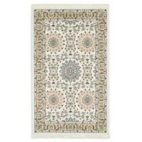 Unique Loom Brighton Nain Design 3' X 5' Powerloomed Area Rug in Ivory