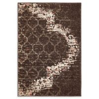 Unique Loom Baltimore Trellis 2'2 x 3' Power-Loomed Rug in Brown