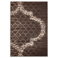 Unique Loom Baltimore Trellis 4' x 6' Power-Loomed Area Rug in Brown