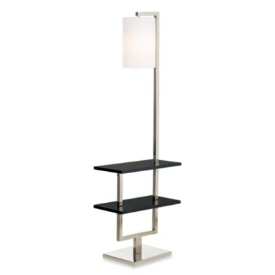 Pacific Coast Lighting® Avenue Double Shelf Floor Lamp In Black Wood And  Metal