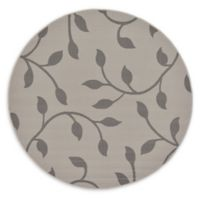 Unique Loom Botanical 6' Round Power-Loomed Indoor/Outdoor Area Rug in Grey