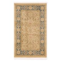 "Unique Loom Aurinia Heritage 3'3"" X 5'3"" Powerloomed Area Rug in Cream/light Blue"