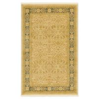 Unique Loom Aurinia Heritage 5' X 8' Powerloomed Area Rug in Cream/light Blue