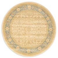 Unique Loom Aurinia Heritage 6' Round Powerloomed Area Rug in Cream/light Blue