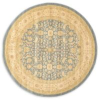 Unique Loom Aurinia Heritage 6' Round Powerloomed Area Rug in Blue