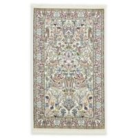 Unique Loom Bristol Nain Design 3' X 5' Powerloomed Area Rug in Ivory