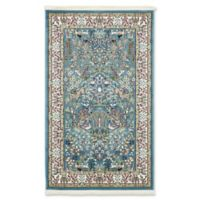 Unique Loom Bristol Nain Design 3' X 5' Powerloomed Area Rug in Blue